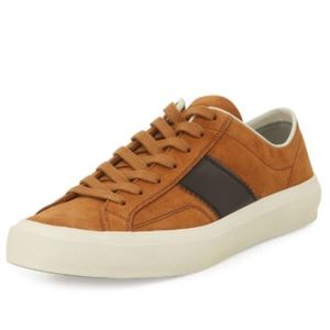 Tom Ford Men's Cambridge Suede Sneakers, 11